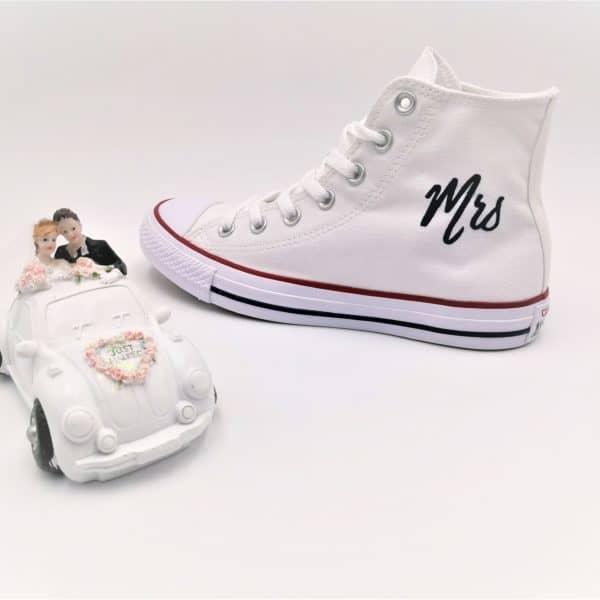 chaussures personnalisées Converse Just married Elegance double g customs chaussures customisées