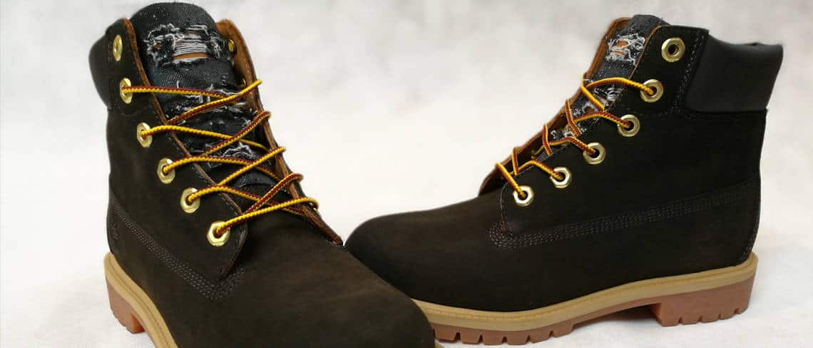 Chaussures customisées custom sneakers timberland black destroyed jeans double g customs