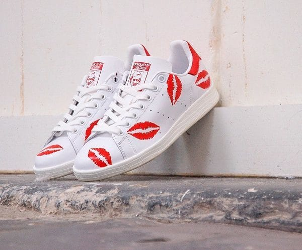chaussures customisées Adidas Stan Smith Kiss double g customs shoes chaussures personnalisées