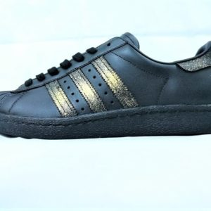 chaussures customisées Adidas Superstar 24K Winter double g customs shoes chaussures personnalisées