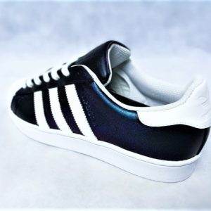 chaussures customisées Adidas Superstar Holographic Swarovski double g customs shoes chaussures personnalisées