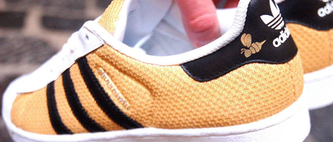Chaussures customisées custom sneakers adidas superstar honey double g customs