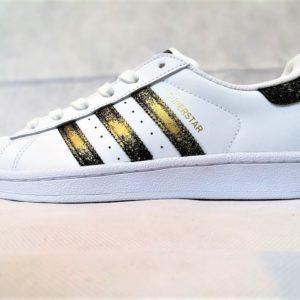 chaussures customisées Adidas Superstar 24K double g customs shoes chaussures personnalisées