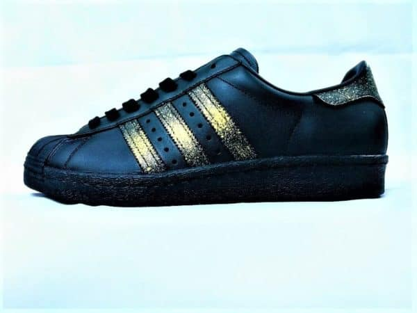 Adidas Superstar 24K Black par Double G Customs