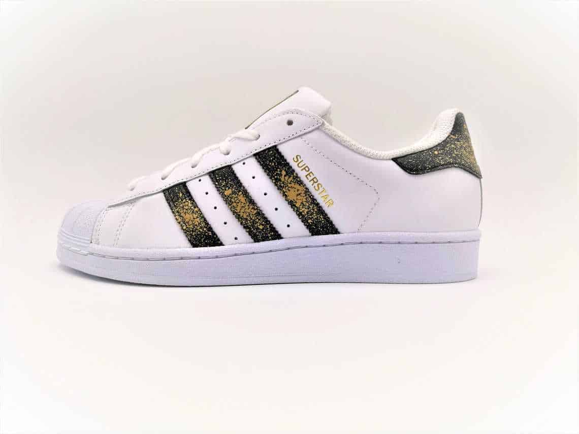 3af8f8ec510d Adidas Superstar 24K-double G customs-custom shoes