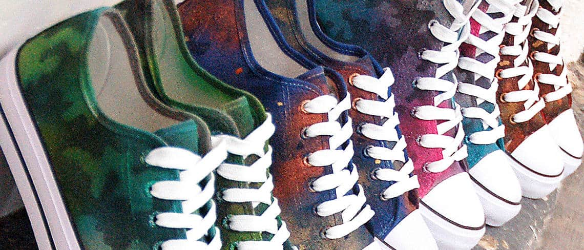 Chaussures customisées custom sneakers converse summer collection double g customs