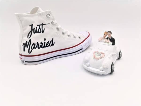 Converse Just Married Elegance par Double G Customs