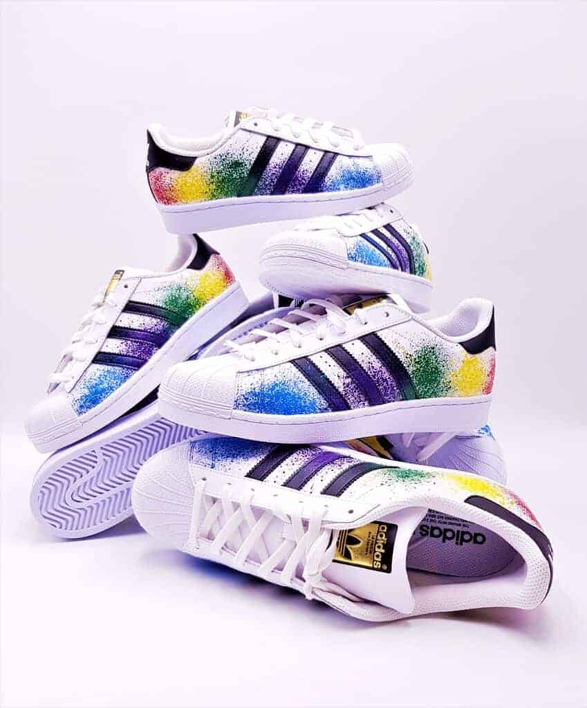buy popular b35f7 67b31 Adidas color splash superstar