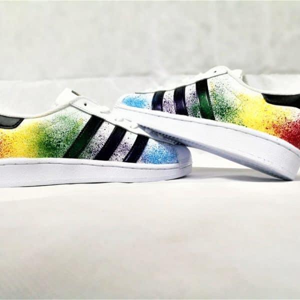 Adidas Superstar Color splash double g customs shoes chaussure customisée personnalisée