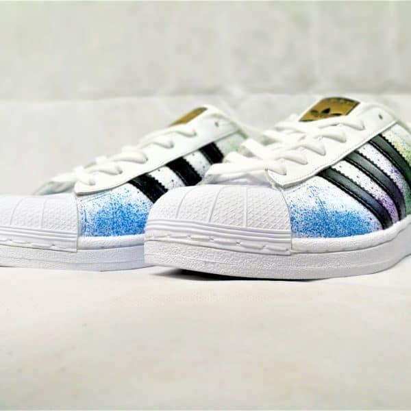 Adidas Superstar Color splash - double g customs shoes chaussure customisée personnalisée