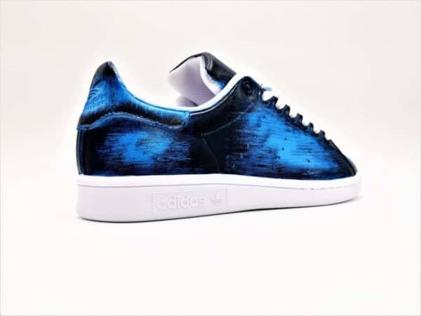 Adidas Stan Smith PAtine Bleu par Double G Customs