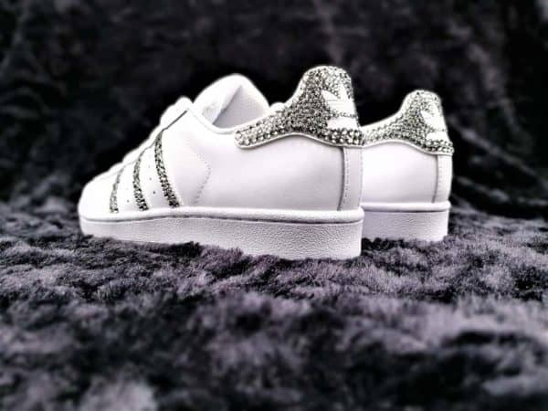 Adidas Superstar Glitter & Swarovski par Double G Customs