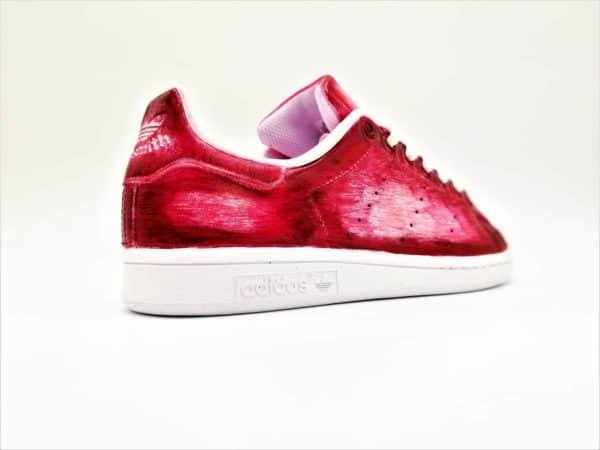 Chaussures personnalisées Adidas Stan Smith Patina Rouge
