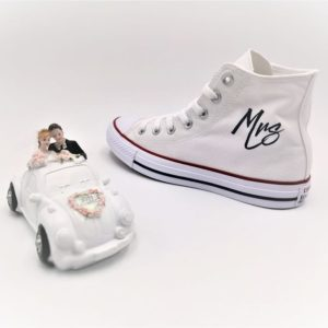 chaussures personnalisées Converse Just married Fresh double g customs chaussures customisées