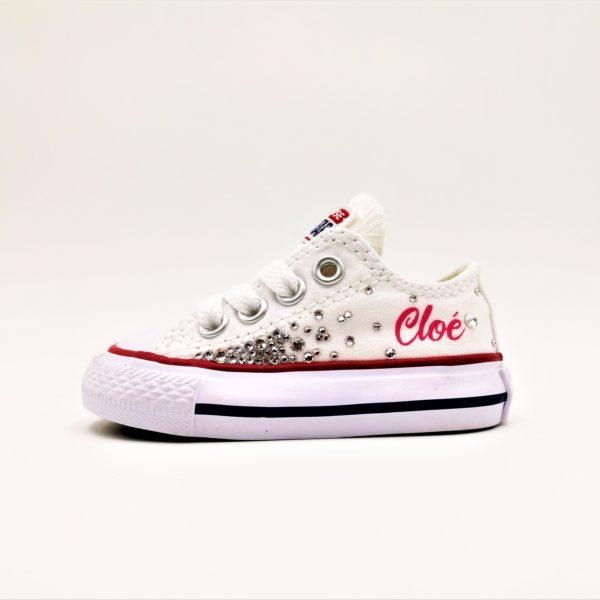 converse swarovski galaxy, chaussures customisées, chaussures personnalisées par Double G Customs