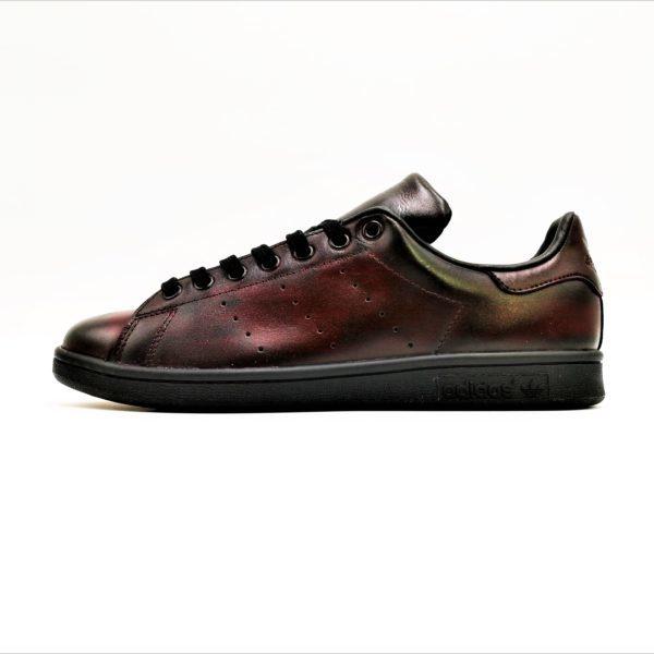 Adidas Stan Smith Patina par Double G Customs. Chaussures customisées sur mesure. Patine de chaussures personnalisées