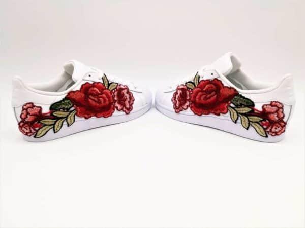 Adidas Superstar Flower Embroidery par Double G Customs