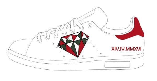 adidas stan smith diamond preview par double g customs, chaussures personnalisées sur demande en belgique.