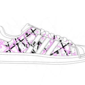 adidas superstar color splash preview par double g customs, atelier de customisation des chaussures à Namur Belgique.