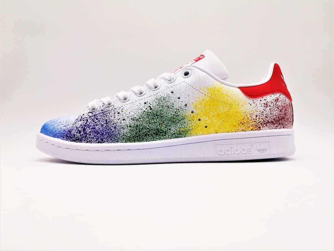 3143c231a545a4 Adidas Color Splash Stan Smith-Double G Customs-Custom shoes