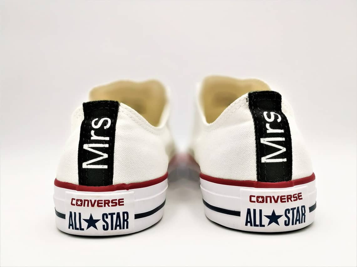 76352a9b271c Custom converse wedding shoes made by double G customs for weddings. Custom  shoes converse wedding