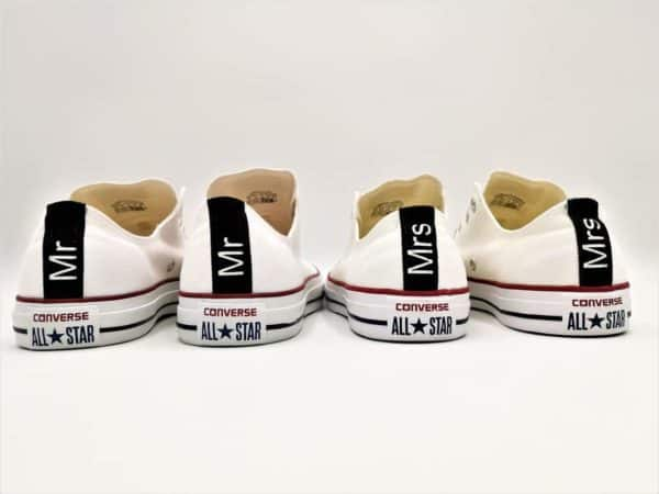 Converse Wedding Mr – Mrs par Double G Customs