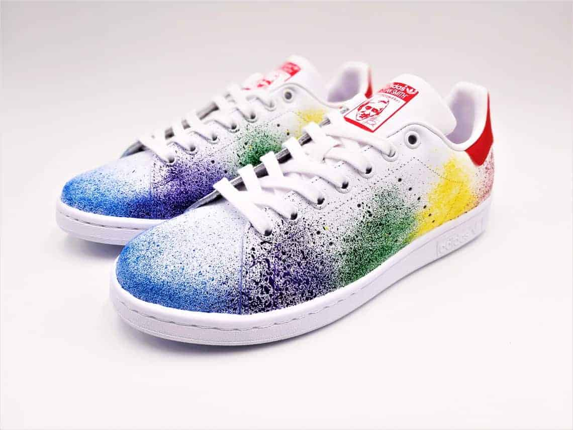 Adidas stan smith color splash by double g customs for Adidas stan smith colori