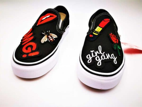 Vans Custom Slip On Girl Gang par Double G Customs