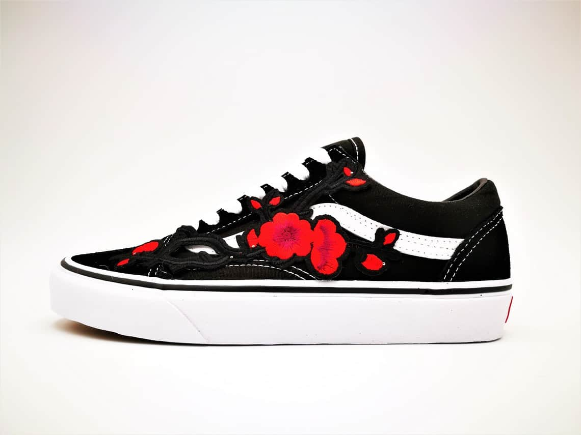 vans custom old skool japan 39 s spring flower double g. Black Bedroom Furniture Sets. Home Design Ideas