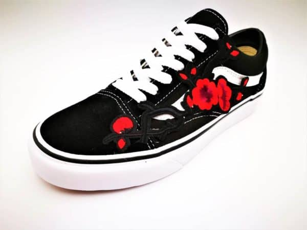 Vans Custom Old Skool Japan's Spring Flower par Double G Customs