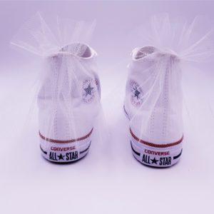 Converse Wedding, chaussures de mariage personnalisées par Double G Customs, artiste customiser spécialiser dans la création de chaussures de mariages personnalisées.