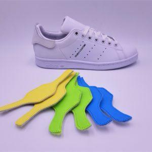 Les Adidas Stan Smith Patch Interchangeable, des Adidas Stan Smith avec les patchs arrières interchangeables. Une paire de Stan Smith, des centaines de possibilités! Double G Customs, créateur de chaussures customisées sur mesure. Adidas Stan Smith Patch interchangeable avec le pack de patch pastelle 1: bleu océan, jaune pâle et vert pistache.