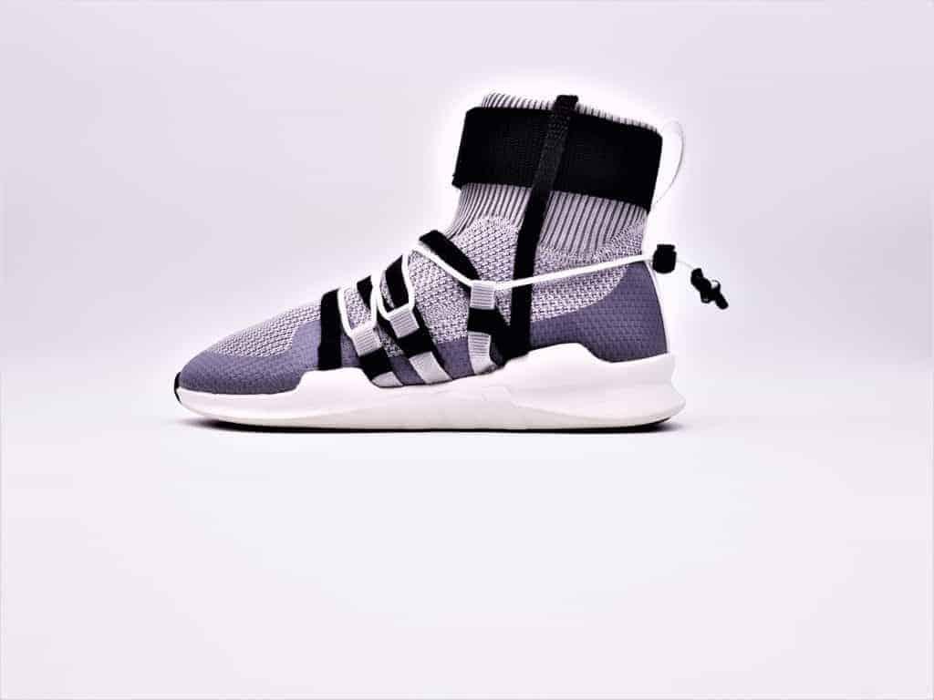 Adidas EQT custom, chaussures personnalisées par double g customs dans un esprit techwear