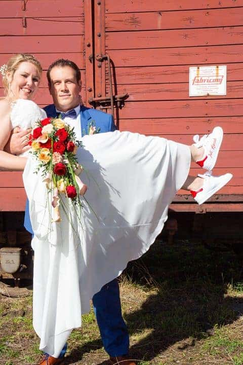 adidas stan smith just married, chaussures de mariage personnalisées par double g customs