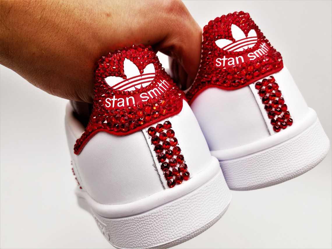 Adidas Stan Smith Swarovski G Customs Double redCBWxo