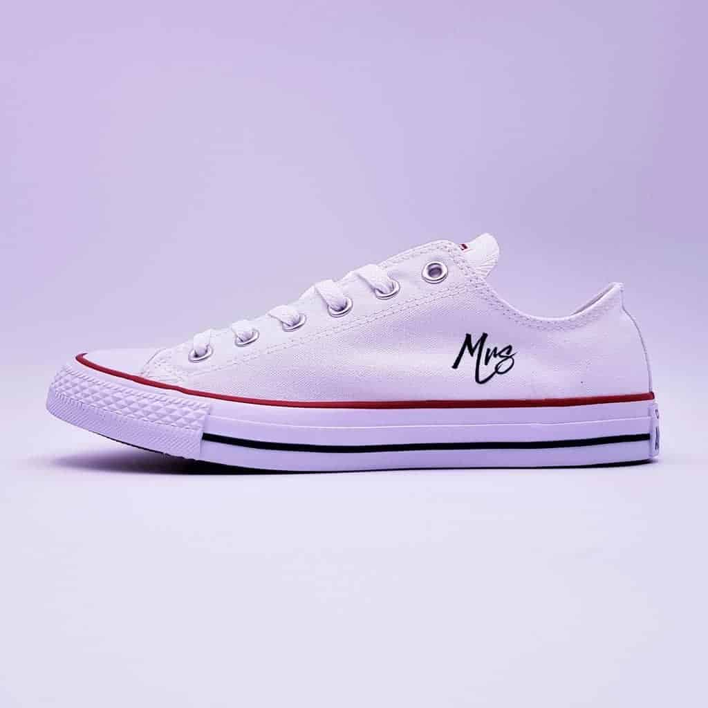 dd458050b931 Converse wedding just married fresh-double G customs-custom shoes