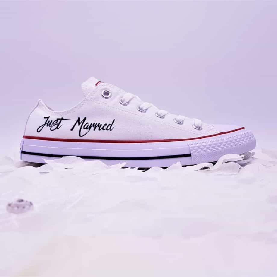 Converse mariage collection Just Married réalisées par double g customs