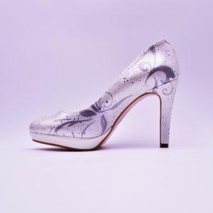 Les escarpins mariage Giulia Pearl Oriental par Double G Customs, chaussures de mariage personnalisées.