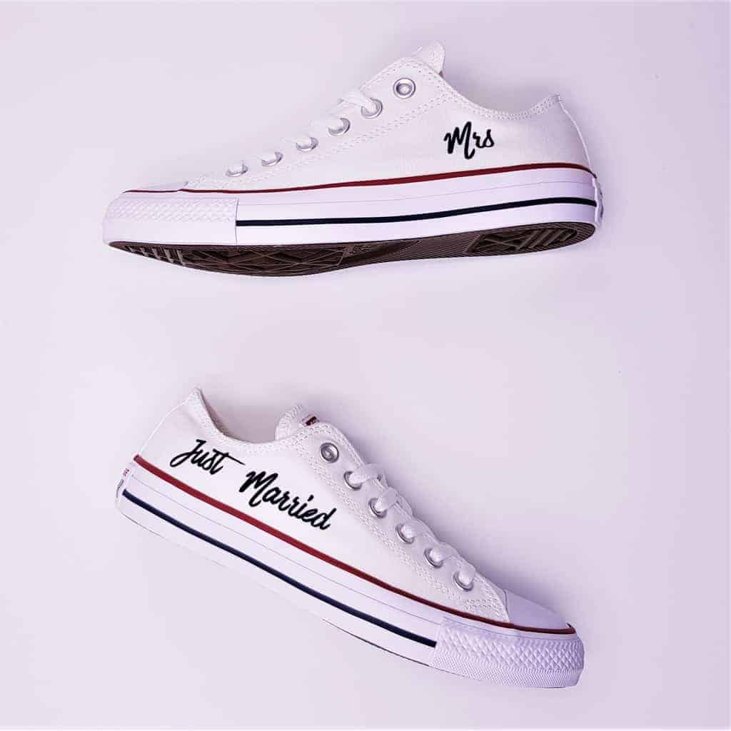Converse Mariage Just Married Elegance Double G Customs