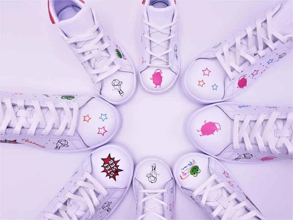 Fun, un mariage en stan smith avec les chaussures de mariage personnalisées de double g customs