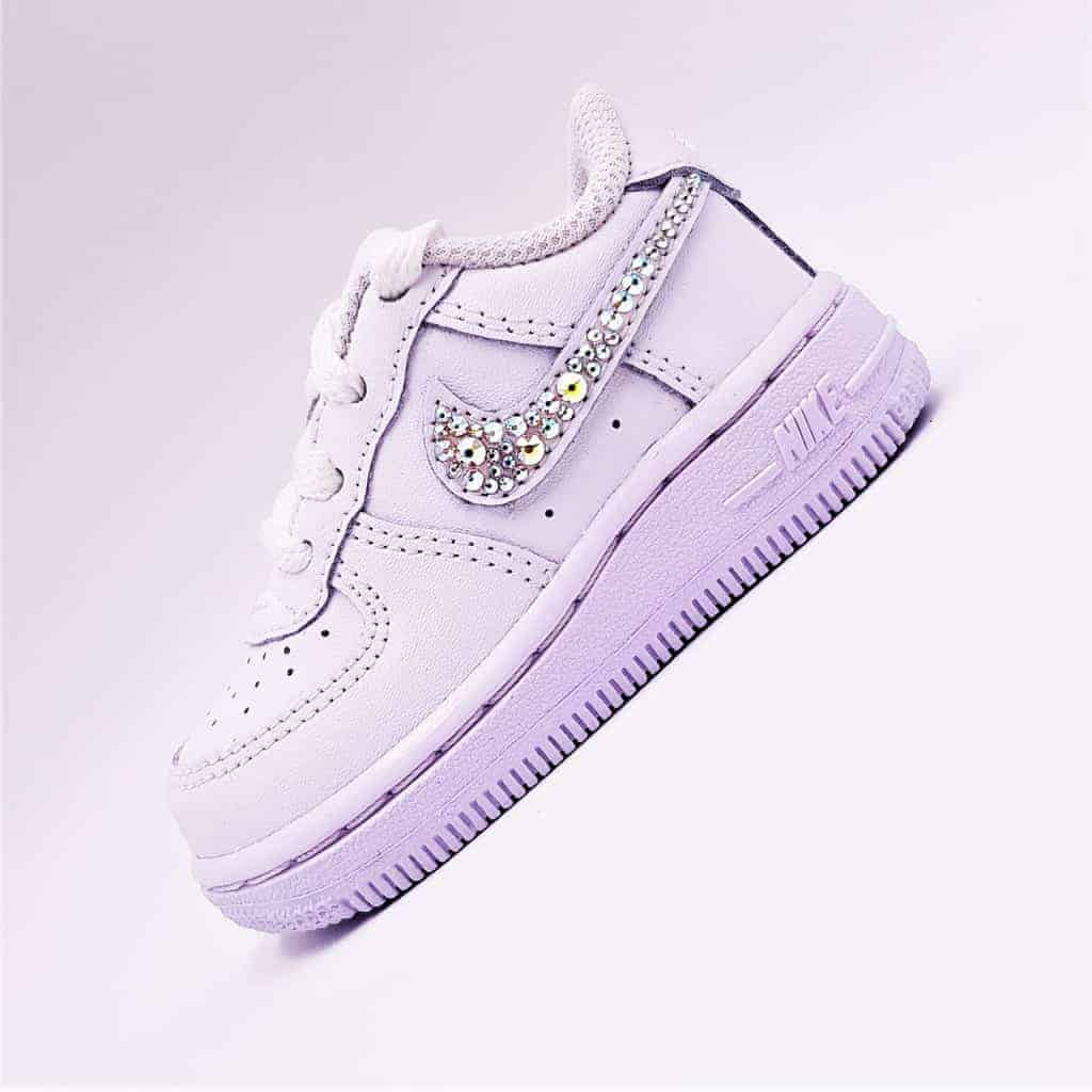 best website most popular brand new Nike Air Force 1 baby Swarovski