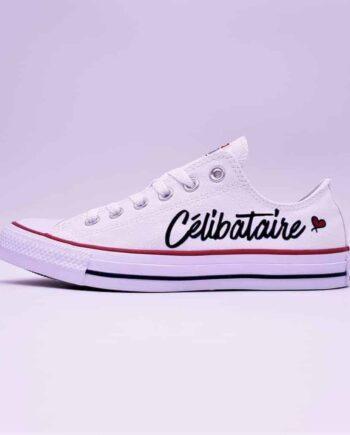 converse célibataire, des converses customisées par Double G Customs pour le célibataires à la recherche de l'amour ! Double G Customs artiste spécialisé dans les personnalisations des chaussures de mariage.