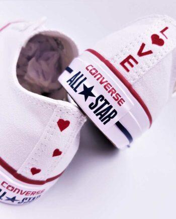 Les Chaussures personnalisées Converse Love