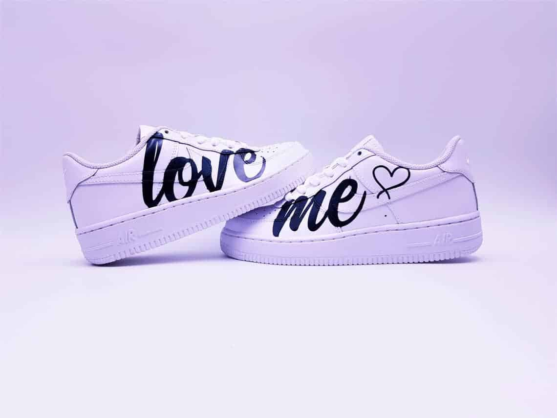 Nike Air Force 1 Love Me Double G Customs Custom sneakers