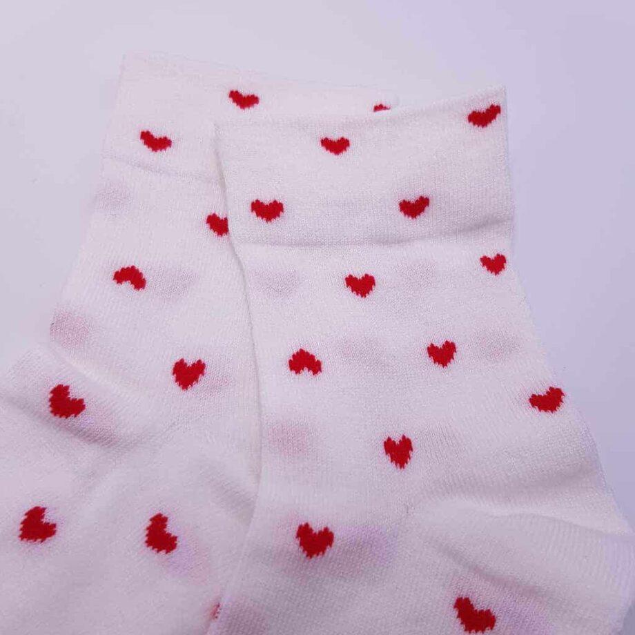 Chaussettes avec mini coeurs pour les mariages. A porter avec les chaussures personnalisées de Double G Customs.