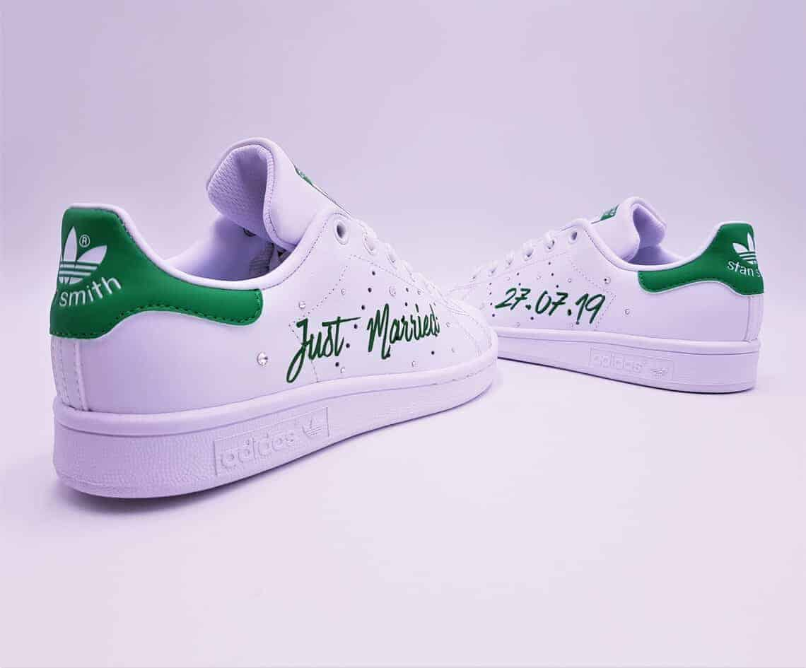 sale retailer 3be77 d8330 Adidas Stan Smith Just Married Green