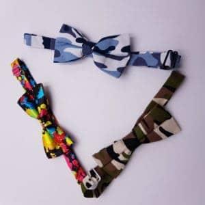 Noeud Papillon Camouflage pour les mariages par Double G Customs, Atelier de création de chaussures personnalisées sur mesure.