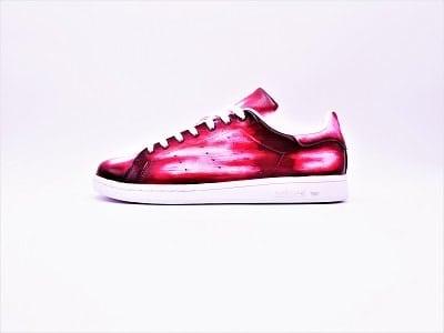 Adidas Stan Smith Patine par Double G Customs, chaussures personnalisés à la main en Belgique.