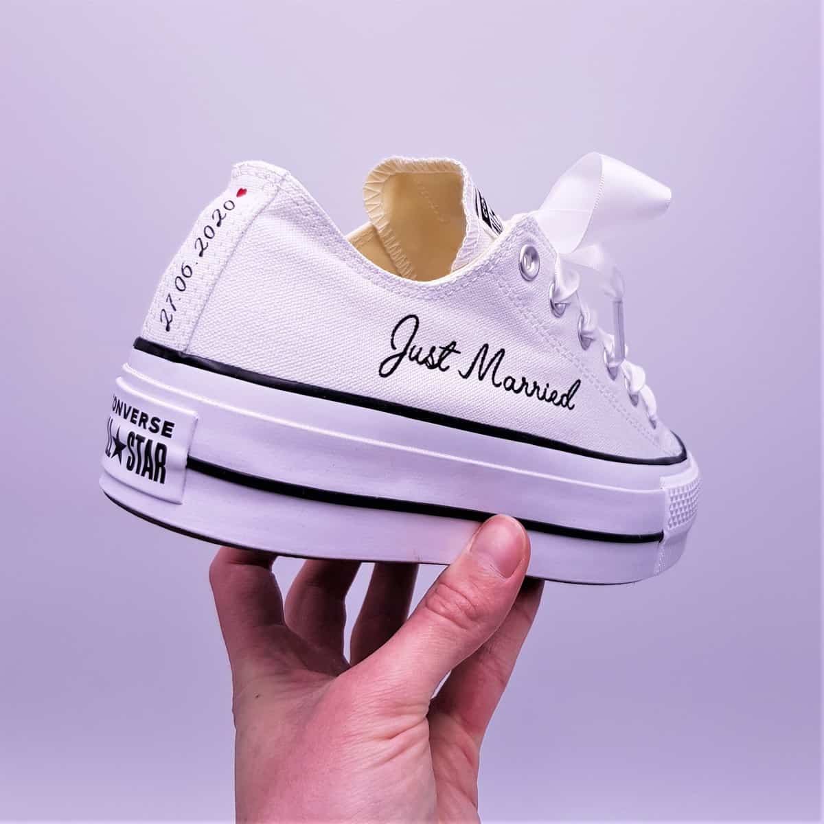 Converse Lift Just Married Double G Customs Chaussures